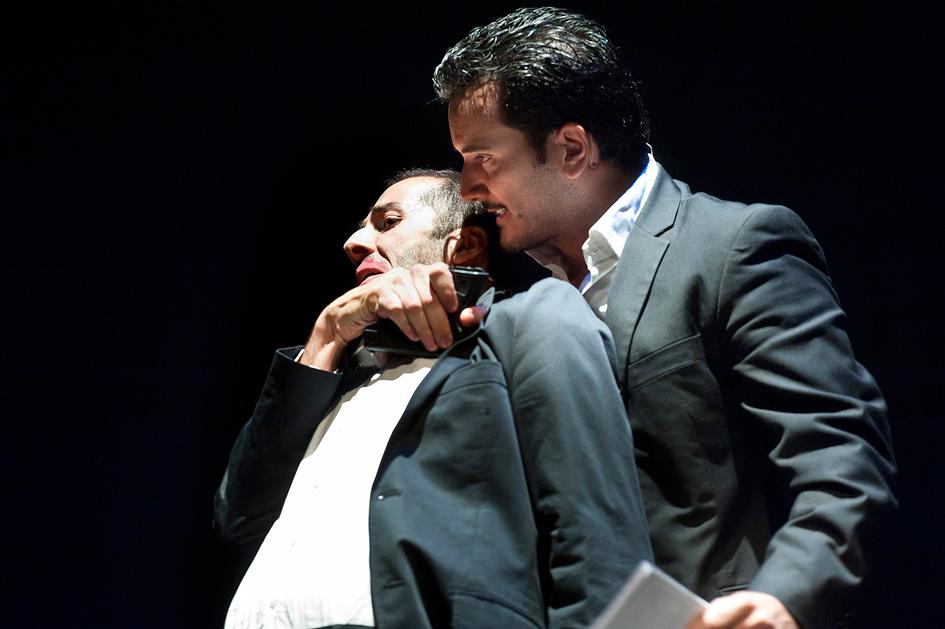 Rodolfo Sacristan Daniel Dimeco Fran Calvo La Mano de Janos teatro actor